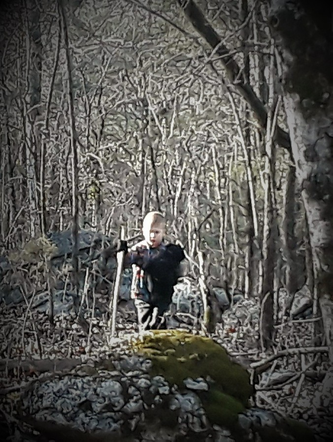 Ki in the woods (5 yo)